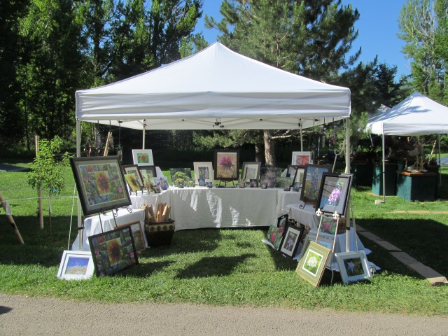 C. E. Eksuzian at Art in the Park, Washoe Park, Anaconda, MT 2013