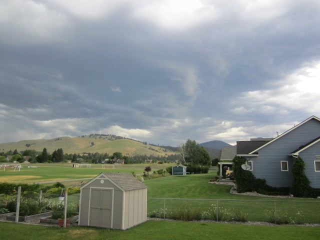 A storm system came through Montana last summer when I was visiting. And when I looked at the sky the strong gut feeling was to take pictures of of the clouds. Do you see the whale in the clouds? His form lies above the shed below.