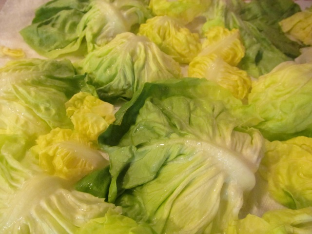 Even in its own individuality, lettuce leaves are uniquely together!